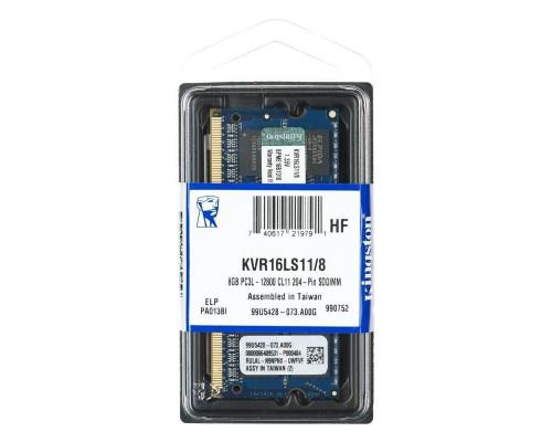 Оперативная память 8 ГБ 1 шт. Kingston ValueRAM KVR16LS11/8