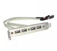 Планка расширения USB 2.0 4 порта на заднюю панель корпуса