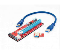 Райзер PCI-E 1x to 16x USB 3.0 riser,SATA
