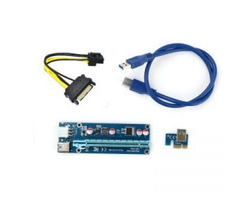 Райзер USB 3.0 riser 6 PIN + SATA, кабель 60 см