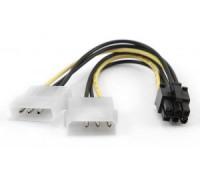 Переходник питания 2 Molex на 6 pin видеокарту