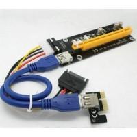 Райзер PCI-E 1x to 16x USB 3.0 riser, удлинитель