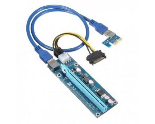 Райзер USB 3.0 riser Ver. 006C и выше ,6 Pin-SATA, Кабель 60 см.