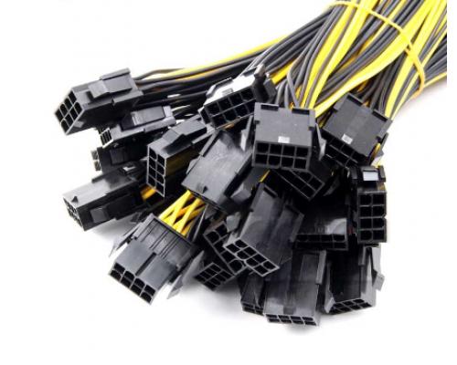 10 штук. Переходник c 8 pin на 6+2 и 6+2 на видеокарту, усиленный, длина 30 см
