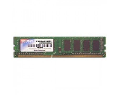 Оперативная память 4Gb DDR-III 1333MHz Patriot Signature Series (PSD34G13332)
