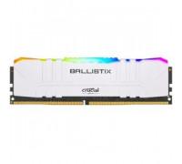 Оперативная память 16Gb DDR4 3000MHz Crucial Ballistix RGB White (BL16G30C15U4WL)