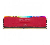 Оперативная память 8Gb DDR4 3000MHz Crucial Ballistix RGB Red (BL8G30C15U4RL) OEM