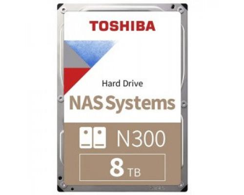 Жёсткий диск 8Tb SATA-III Toshiba N300 (HDWG180UZSVA)