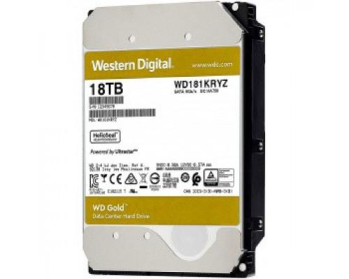 Жёсткий диск 18Tb SATA-III Western Digital Gold (WD181KRYZ)