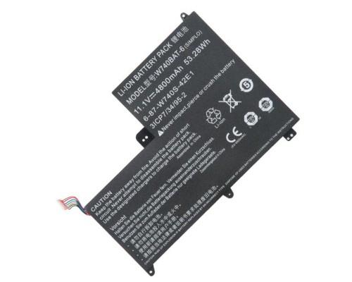 W740BAT-6 аккумулятор для ноутбука DNS Clevo W740, 11.1V, 4800mAh
