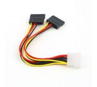Переходник  IDE Molex 4 Pin на 2  SATA HDD, Адаптер Питания