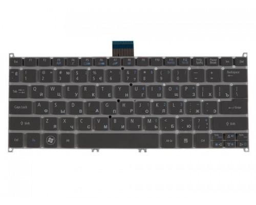 KB.I100A.236 клавиатура для ноутбука Acer Aspire S3, S3-391, S3-951, S5-391, Aspire V5-171, Aspire One B113, Aspire One 725, Aspire One 756, TravelMate B1, серая без рамки, гор. Enter