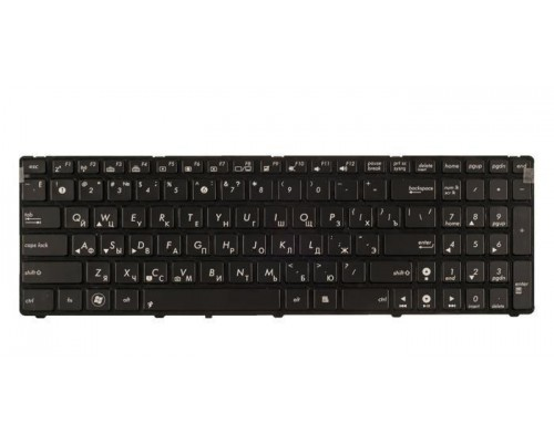04GNV33KUS04-3 клавиатура для ноутбука Asus K50, K51, K60I, K60IJ, K61, K62, K70, K71, K72, F52, F90, P50, X5DIJ, черная с рамкой, с подсветкой, гор. Enter