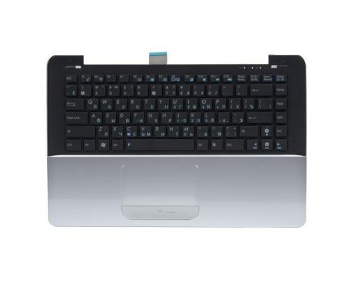 04GNVS1KRU00-3 клавиатура для ноутбука Asus UX30 с топкейсом, серебристая панель, черные кнопки