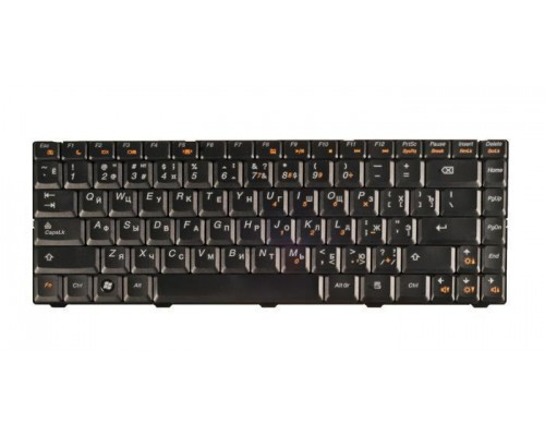 25-009181 клавиатура для ноутбука Lenovo IdeaPad B450, B450A, B450L, черная, гор. Enter