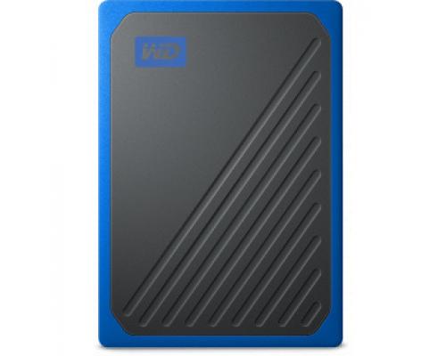 Твердотельный накопитель 1Tb SSD Western Digital My Passport Go Blue (WDBMCG0010BBT)