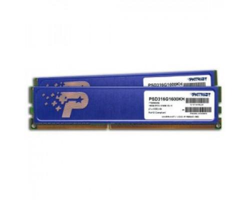 Оперативная память 16Gb DDR-III 1600MHz Patriot Signature (PSD316G1600KH) (2x8Gb KIT)