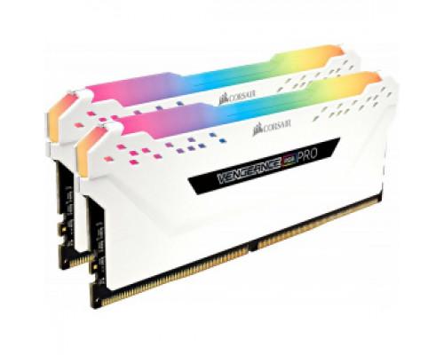Оперативная память 16Gb DDR4 2666MHz Corsair Vengeance RGB PRO (CMW16GX4M2A2666C16W) (2x8Gb KIT)