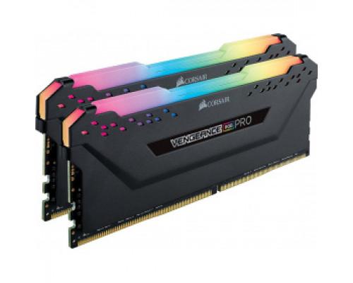 Оперативная память 16Gb DDR4 3200MHz Corsair Vengeance RGB (CMW16GX4M2C3200C16) (2x8Gb KIT)