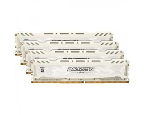 Оперативная память 16Gb DDR4 2400MHz Crucial Ballistix Sport LT White (BLS4K4G4D240FSC) (4x4Gb KIT)