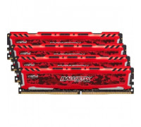 Оперативная память 16Gb DDR4 2666MHz Crucial Ballistix Sport LT Red (BLS4K4G4D26BFSE) (4x4Gb KIT)
