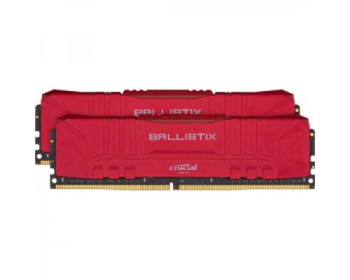 Оперативная память 16Gb DDR4 3000MHz Crucial Ballistix Red (BL2K8G30C15U4R) (2x8Gb KIT)