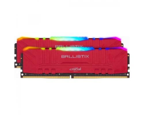 Оперативная память 16Gb DDR4 3000MHz Crucial Ballistix RGB Red (BL2K8G30C15U4RL) (2x8Gb KIT)