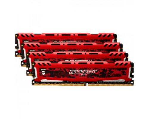 Оперативная память 16Gb DDR4 2400MHz Crucial Ballistix Sport LT Red (BLS4K4G4D240FSE) (4x4Gb KIT)
