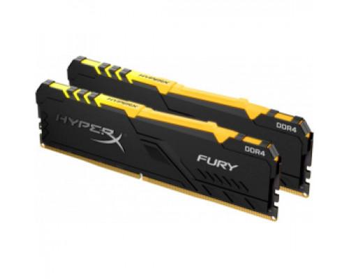 Оперативная память 16Gb DDR4 3200MHz Kingston HyperX Fury RGB (HX432C16FB3AK2/16) (2x8Gb KIT)