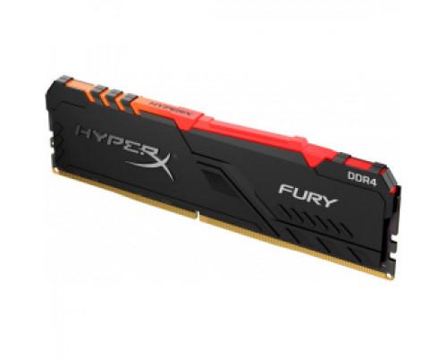 Оперативная память 16Gb DDR4 2666MHz Kingston HyperX Fury RGB (HX426C16FB3A/16)