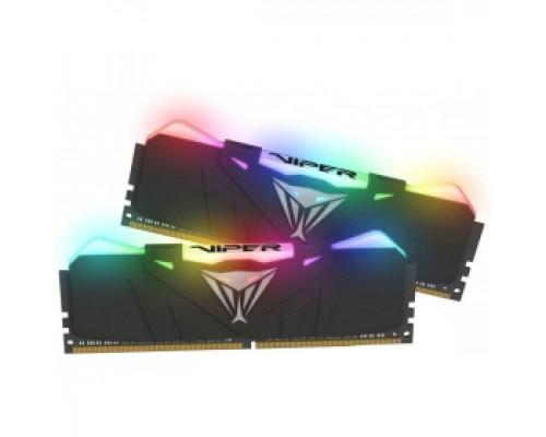 Оперативная память 16Gb DDR4 3000MHz Patriot Viper RGB (PVR416G300C5K) (2x8Gb KIT)