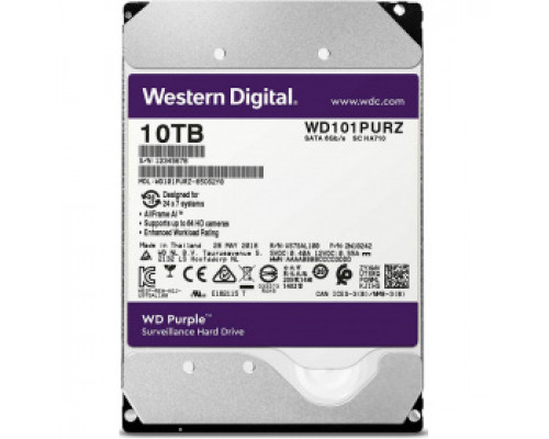 Жесткий диск 10Tb SATA-III Western Digital Purple (WD101PURZ)