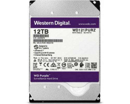 Жёсткий диск 12Tb SATA-III Western Digital Purple (WD121PURZ)
